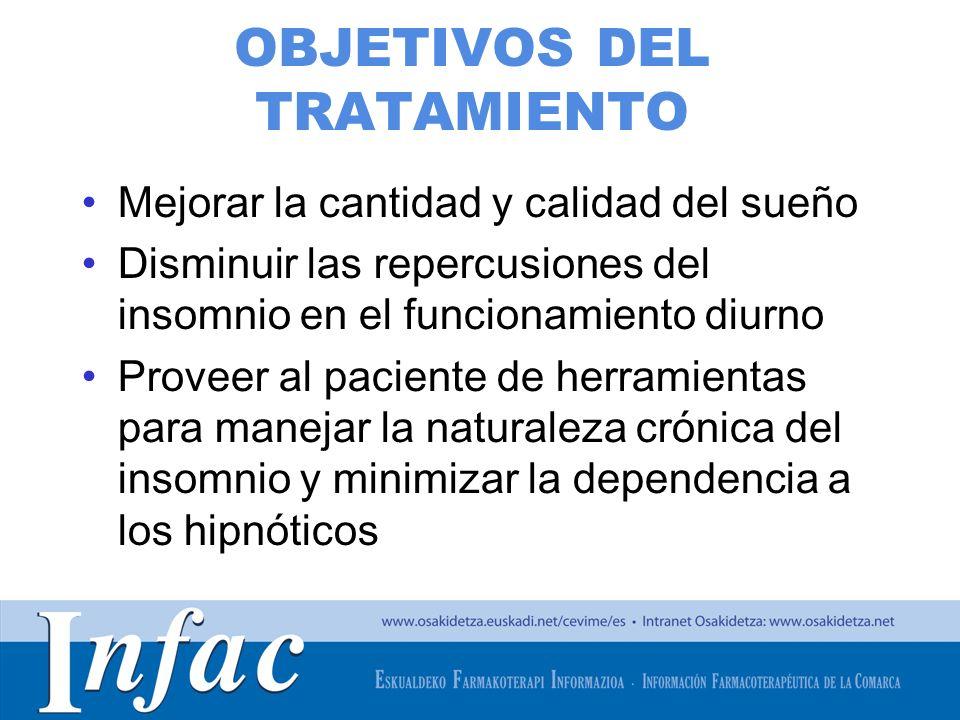 http://www.osakidetza.euskadi.net TÉCNICAS COGNITIVAS Y CONDUCTUALES La terapia cognitivo conductual (TCC) se trata de una intervención breve, centrada en el sueño y multimodal que incluye procedimientos psicológicos y de comportamiento.