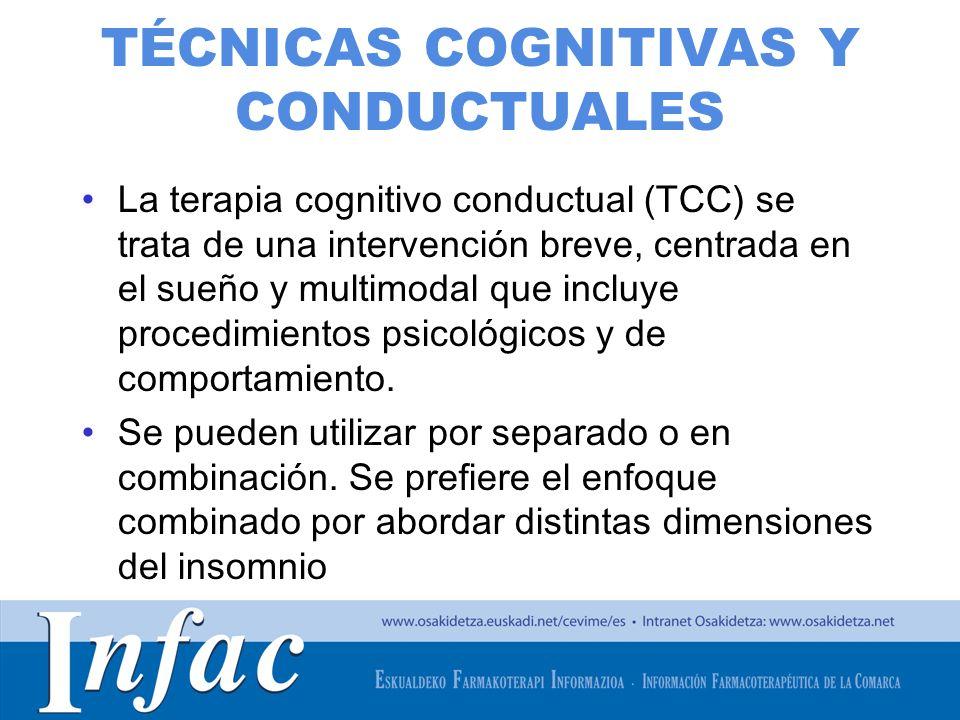http://www.osakidetza.euskadi.net TÉCNICAS COGNITIVAS Y CONDUCTUALES La terapia cognitivo conductual (TCC) se trata de una intervención breve, centrad