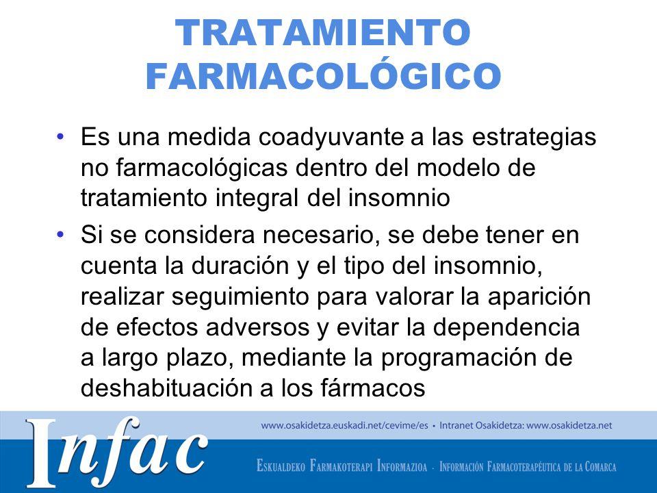 http://www.osakidetza.euskadi.net TRATAMIENTO FARMACOLÓGICO Es una medida coadyuvante a las estrategias no farmacológicas dentro del modelo de tratami