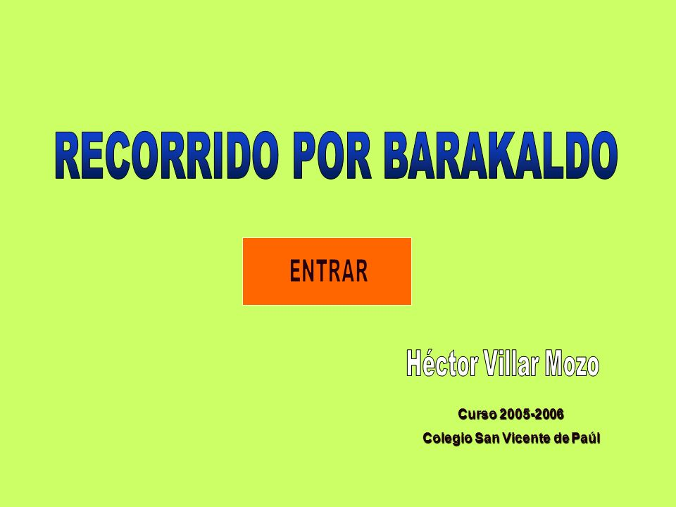 Curso 2005-2006 Colegio San Vicente de Paúl
