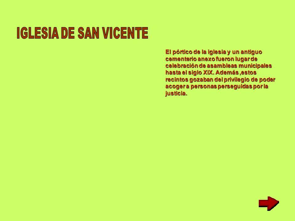 Al parecer,la iglesia de San Vicente fue fundada Al parecer,la iglesia de San Vicente fue fundada a principios del siglo XIX por D.Sancho López de a p