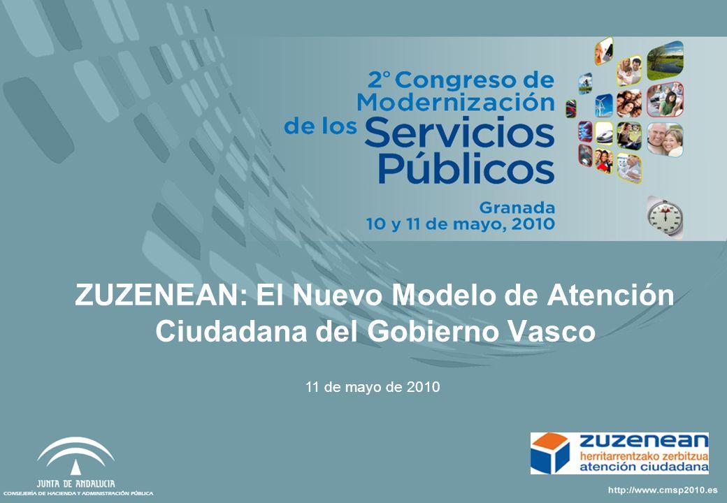 ZUZENEAN: El Nuevo Modelo de Atención Ciudadana del Gobierno Vasco 11 de mayo de 2010