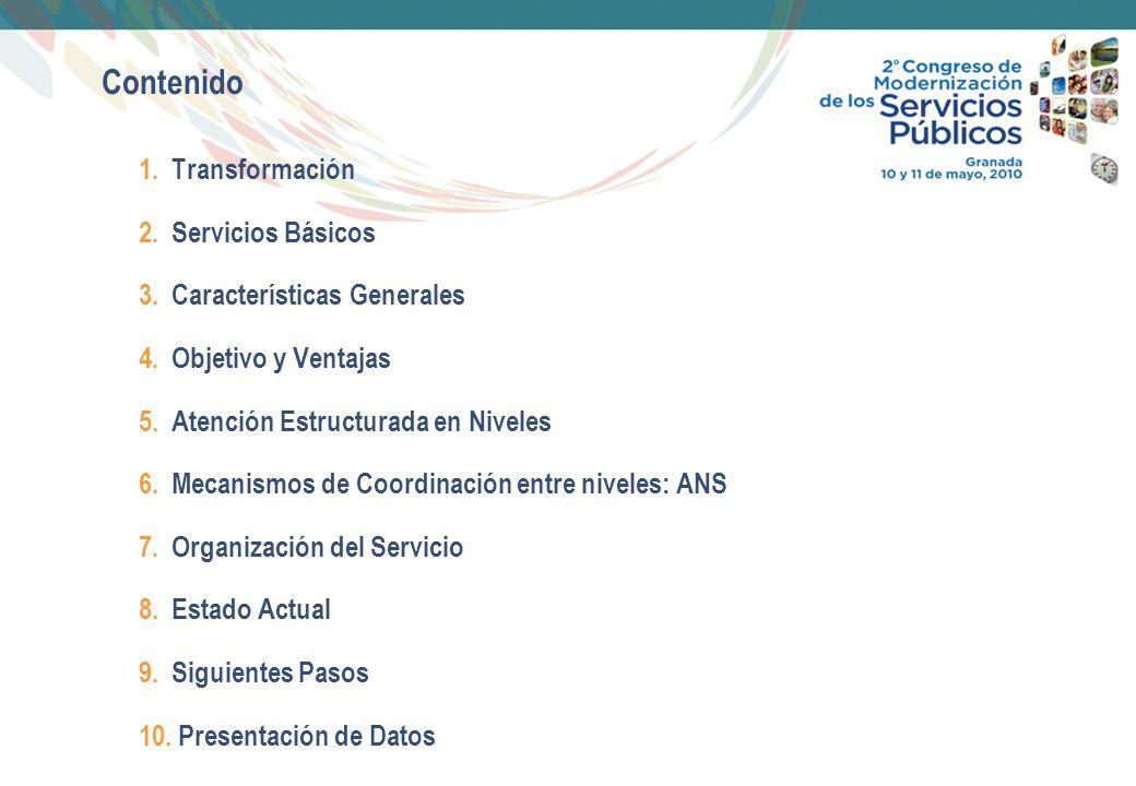 3 1.Transformación El Ciudadano/a DEMANDA TRATAMIENTO Respuesta Dpto.