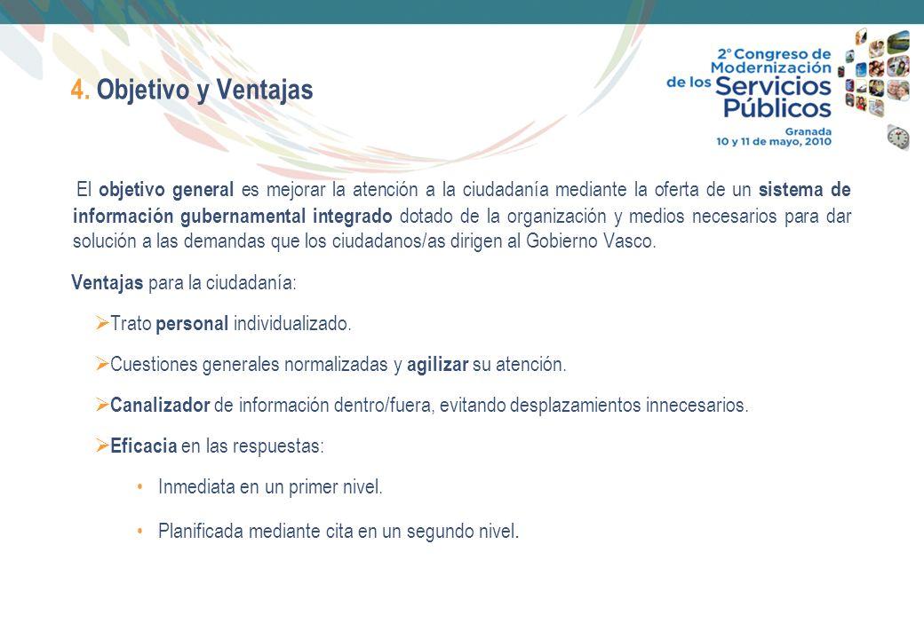 7 4. Objetivo y Ventajas El objetivo general es mejorar la atención a la ciudadanía mediante la oferta de un sistema de información gubernamental inte