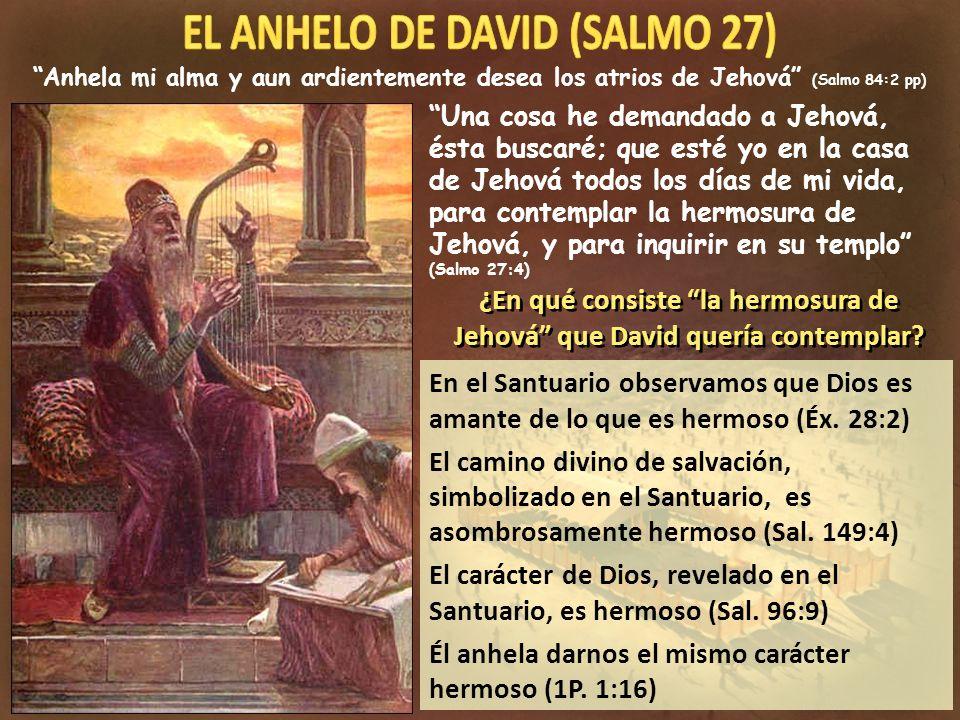En el Santuario observamos que Dios es amante de lo que es hermoso (Éx. 28:2) El camino divino de salvación, simbolizado en el Santuario, es asombrosa