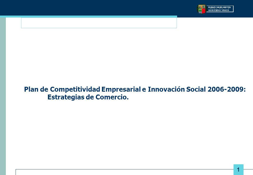 1 Plan de Competitividad Empresarial e Innovación Social 2006-2009: Estrategias de Comercio.