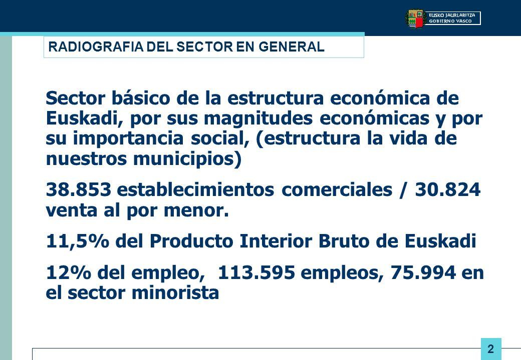 2 RADIOGRAFIA DEL SECTOR EN GENERAL Sector básico de la estructura económica de Euskadi, por sus magnitudes económicas y por su importancia social, (e