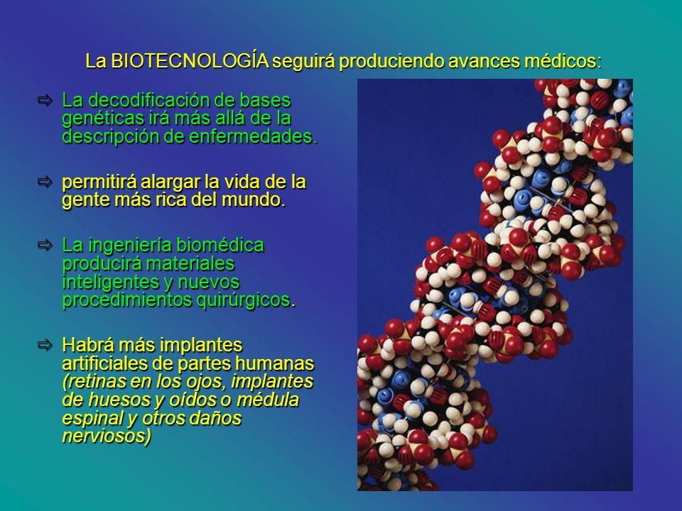 La decodificación de bases genéticas irá más allá de la descripción de enfermedades. La decodificación de bases genéticas irá más allá de la descripci