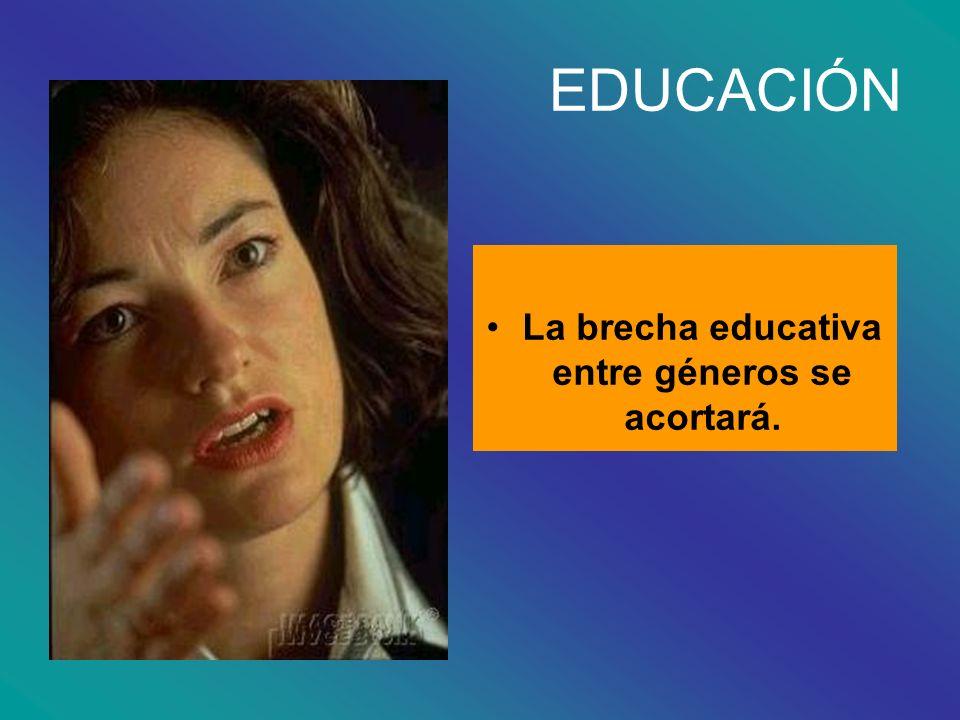 La brecha educativa entre géneros se acortará.