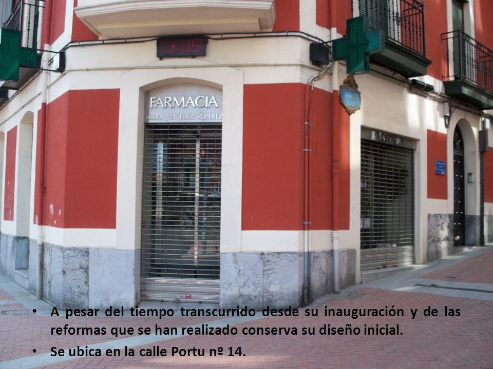 A pesar del tiempo transcurrido desde su inauguración y de las reformas que se han realizado conserva su diseño inicial. Se ubica en la calle Portu nº