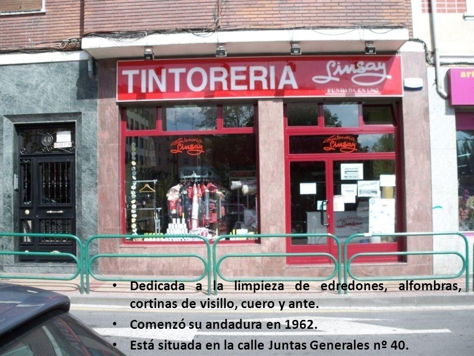 TINTORERÍA LINSAY Dedicada a la limpieza de edredones, alfombras, cortinas de visillo, cuero y ante. Comenzó su andadura en 1962. Está situada en la c