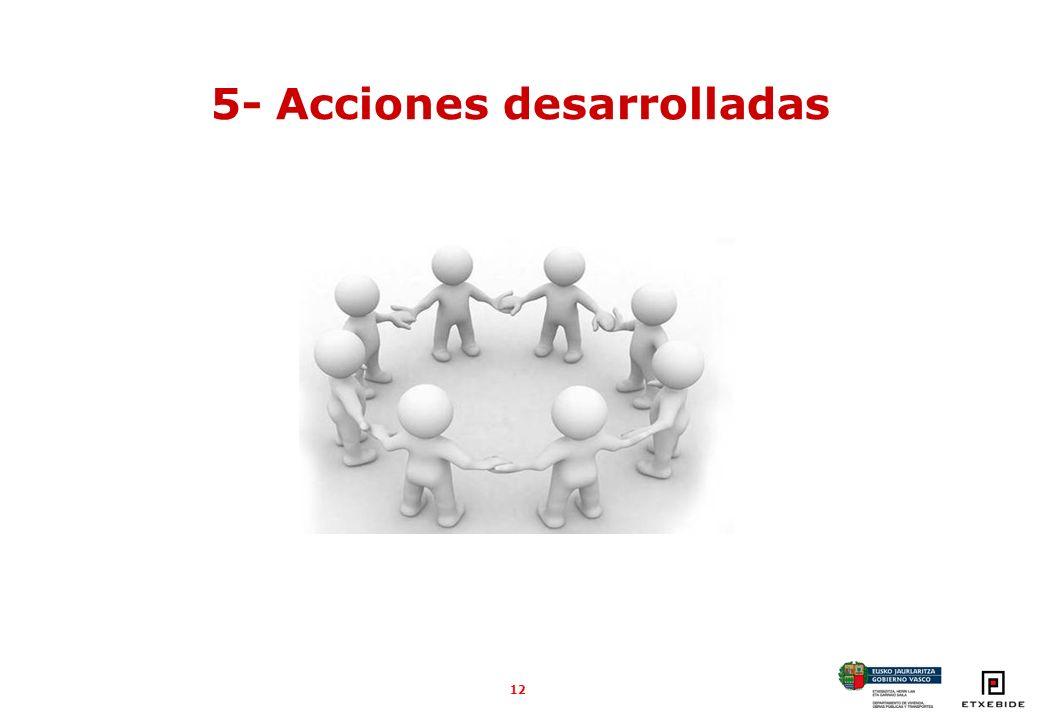12 5- Acciones desarrolladas