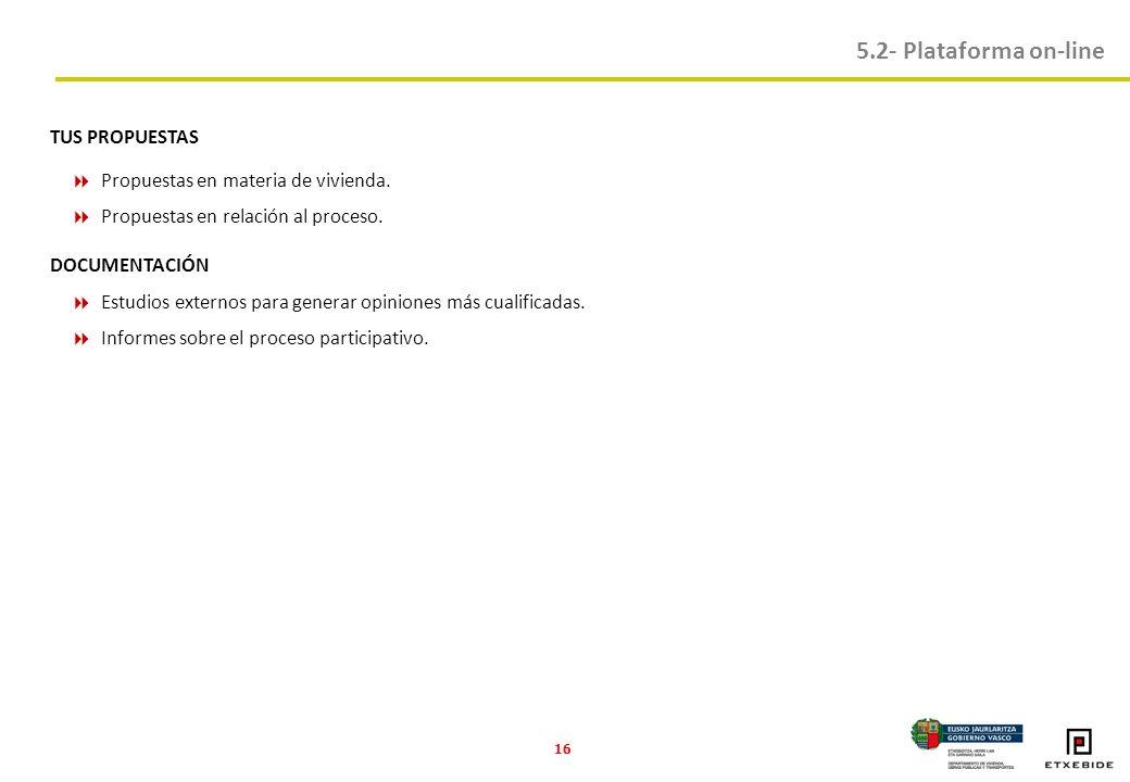 16 TUS PROPUESTAS Propuestas en materia de vivienda.