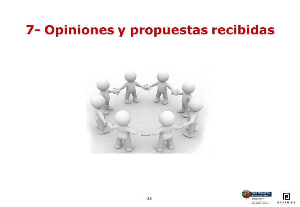 22 7- Opiniones y propuestas recibidas