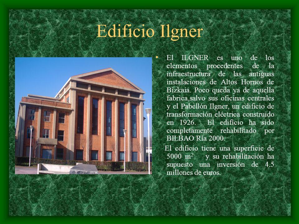 Edificio Ilgner El ILGNER es uno de los elementos procedentes de la infraestructura de las antiguas instalaciones de Altos Hornos de Bizkaia. Poco que