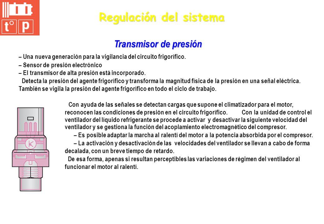 Regulación del sistema – Una nueva generación para la vigilancia del circuito frigorífico. – Sensor de presión electrónico – El transmisor de alta pre
