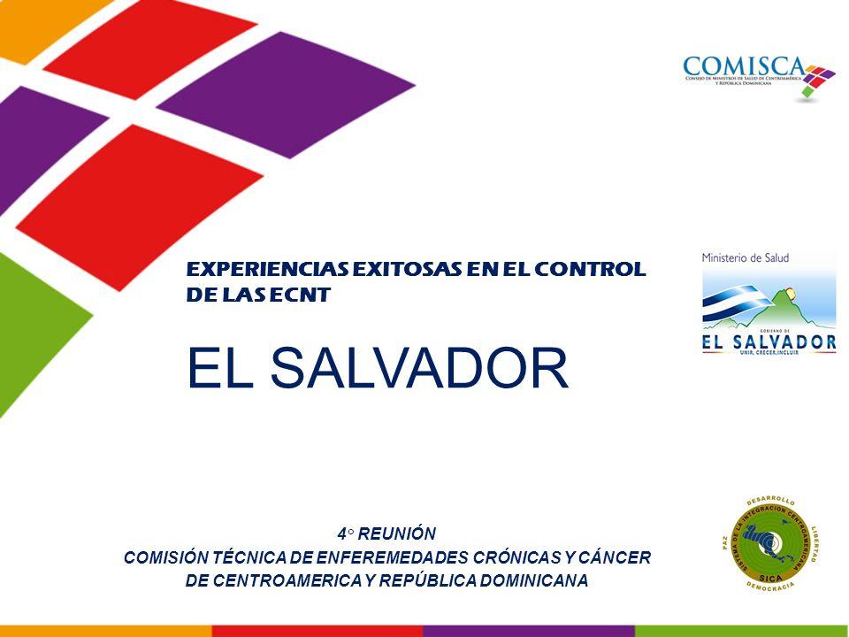 En El Salvador CAUSAS *TASA Enfermedades Transmisibles Incluyendo VIH-SIDA 68.6 Lesiones de Causa Externa126.2 Neoplasias Malignas66.4 Diabetes Mellitus56.1 Cardiopatía Isquémica59.3 Enfermedades Cerebro Vasculares13.3 INDICADORES DE MORTALIDAD SEGÚN OPS EN ADULTOS EN EL SALVADOR Fuente: Informe de Situación de Salud en Las Américas, INDICADORES BÁSICOS 2010 *Muertes por 100,000 hab.