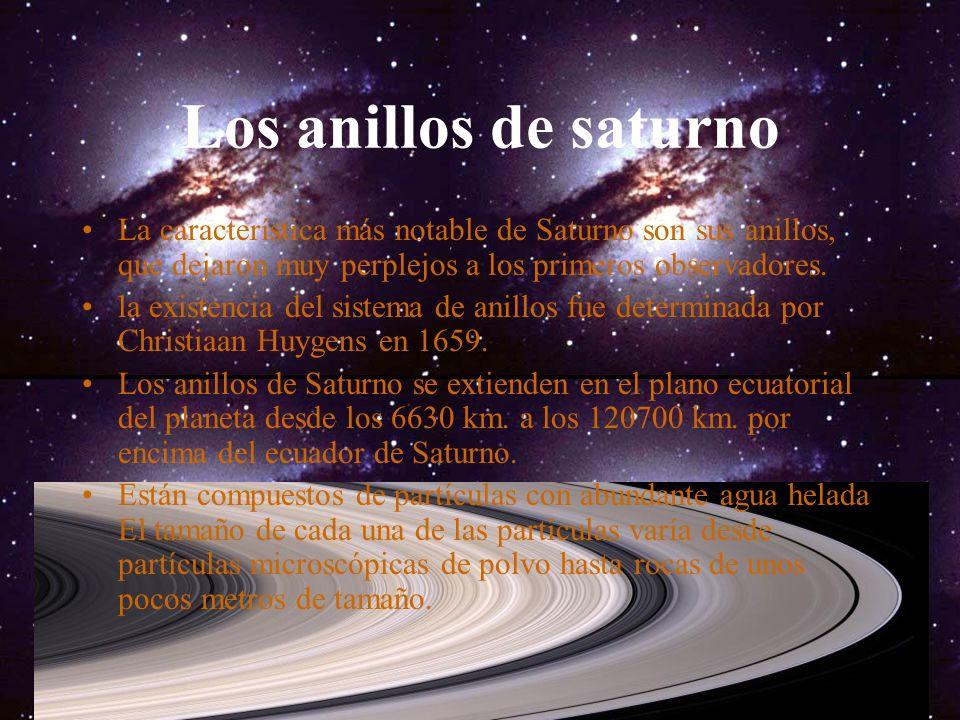 Saturno Saturno es el sexto planeta del Sistema Solar. es el segundo en tamaño después de Júpiter. es el único con un sistema de anillos visible desde