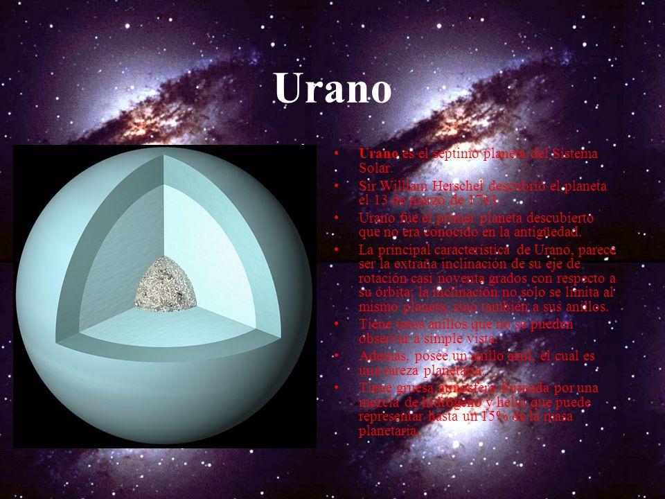Los anillos de saturno La característica más notable de Saturno son sus anillos, que dejaron muy perplejos a los primeros observadores. la existencia