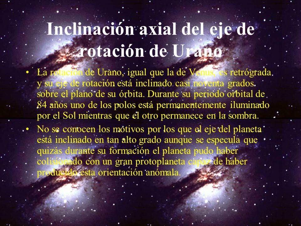 Urano Urano es el séptimo planeta del Sistema Solar. Sir William Herschel descubrió el planeta el 13 de marzo de 1781. Urano fue el primer planeta des