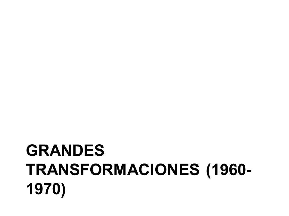 GRANDES TRANSFORMACIONES (1960- 1970)