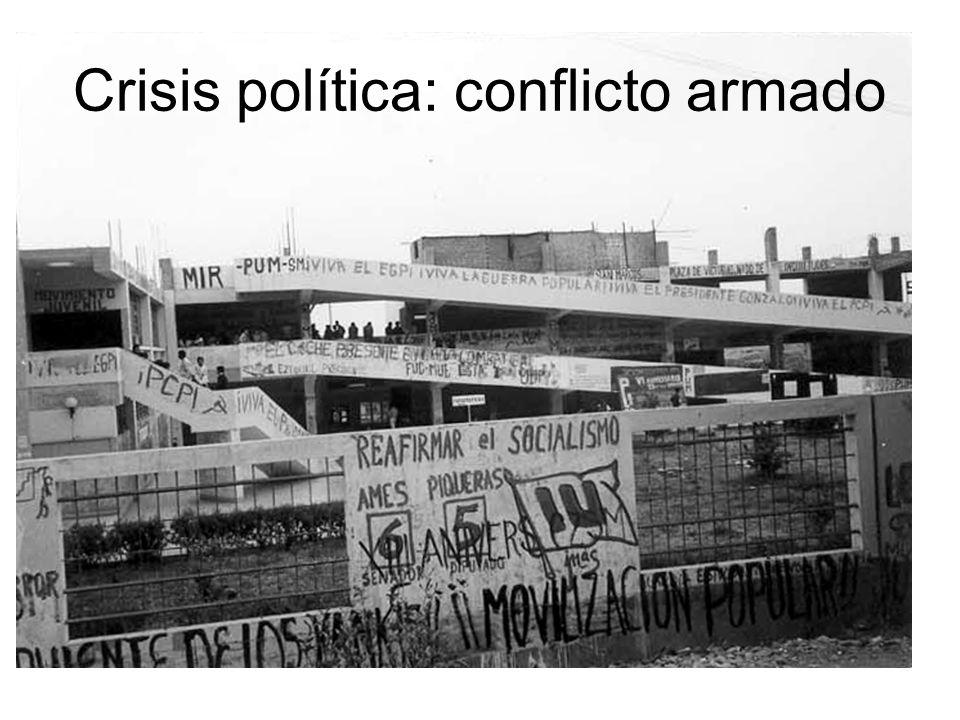 Crisis política: conflicto armado