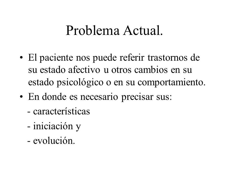 Problema Actual.