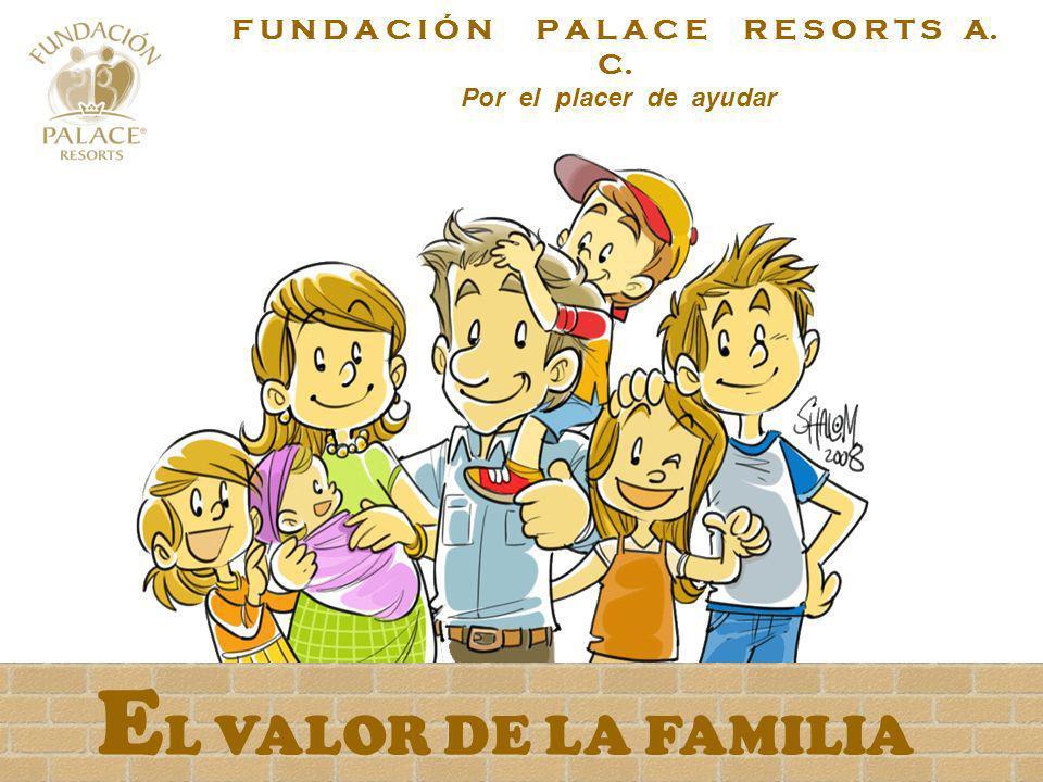 E L VALOR DE LA FAMILIA F U N D A C I Ó N P A L A C E R E S O R T S A. C. Por el placer de ayudar