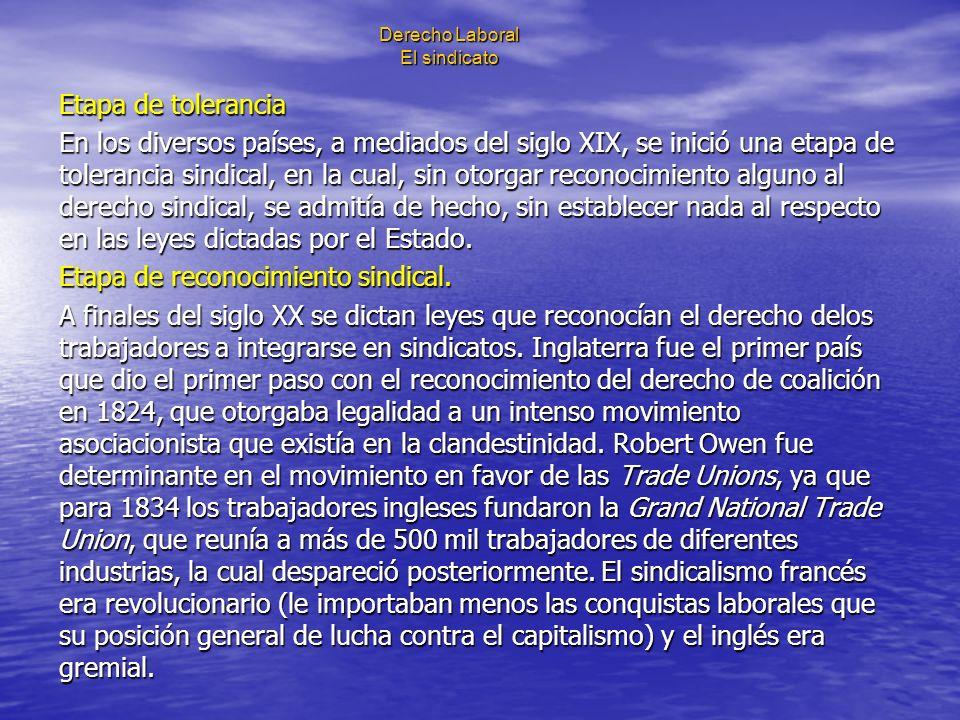 Derecho Laboral El sindicato Artículo 377.- Son obligaciones de los sindicatos: I.