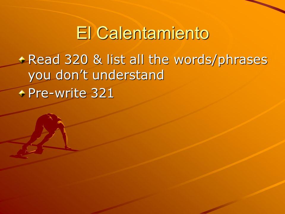 Define & add a verb that pertains to the body part/vocab word: el oído el diente la pierna la cabeza guardar cama el jarabe dolor