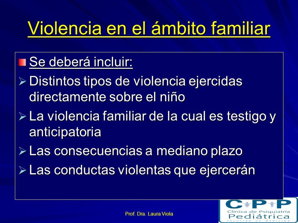 Prof. Dra. Laura Viola Niño testigo de violencia: Se excluirá otros tipos de violencia Sociedad y sus organizaciones Sociedad y sus organizaciones Ins