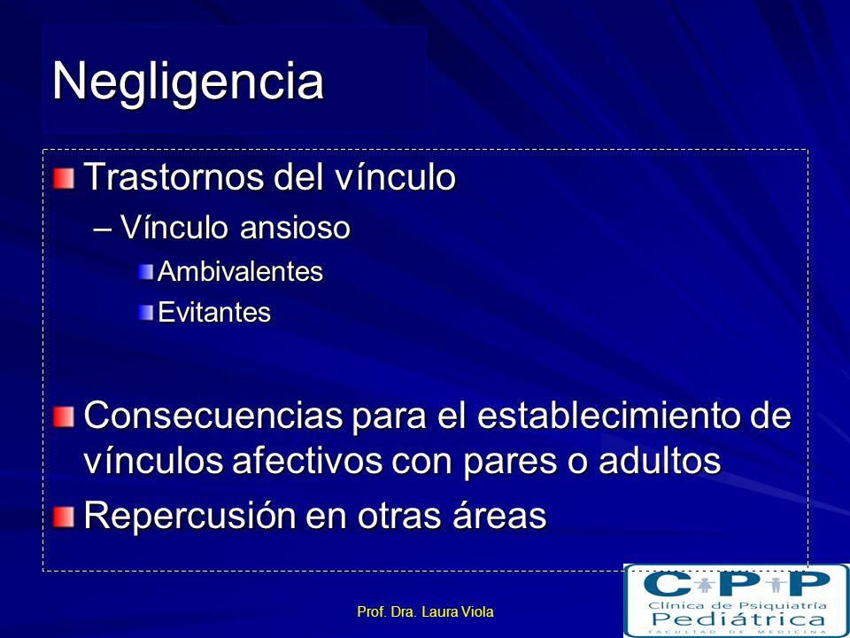 Prof. Dra. Laura Viola Investigaciones Pocas Ausencia de estudios sistemáticos No se toma en cuenta la heterogeneidad No se toma en cuenta la simultan
