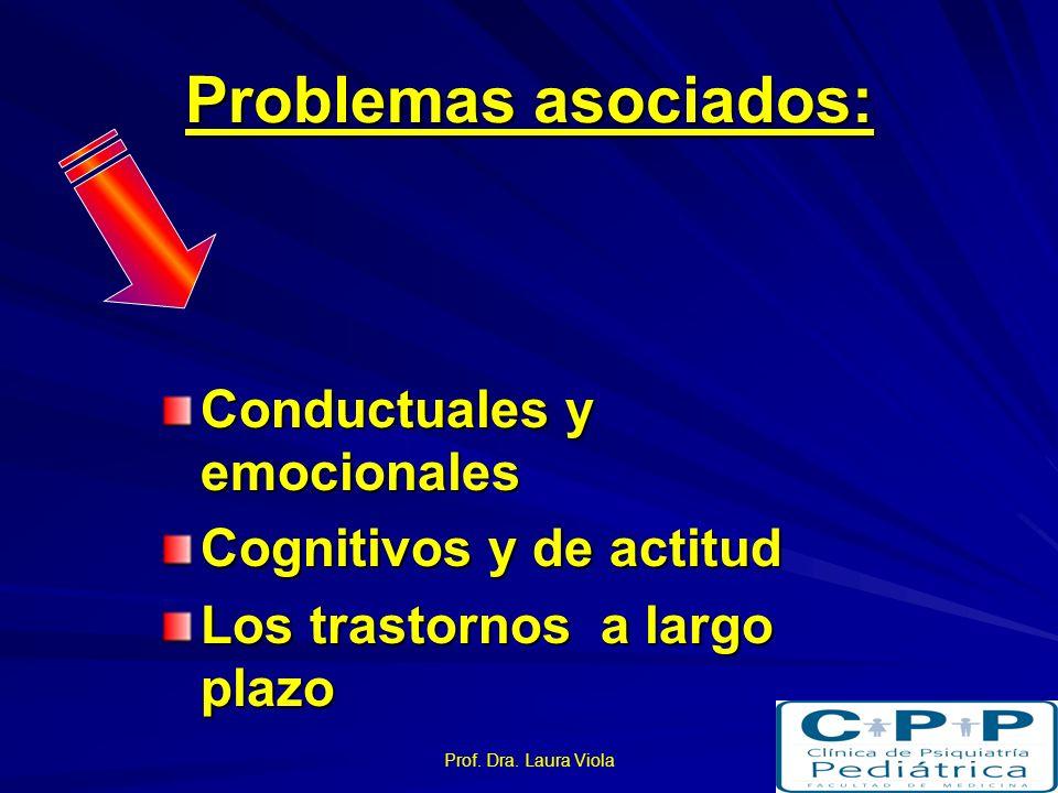 Prof. Dra. Laura Viola Investigaciones Edleson, 1999. Evaluación de características de niños testigos de Violencia Familiar. –Trastornos asociados. –F