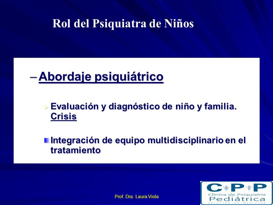 Prof.Dra. Laura Viola –Abordaje psiquiátrico Evaluación y diagnóstico de niño y familia.