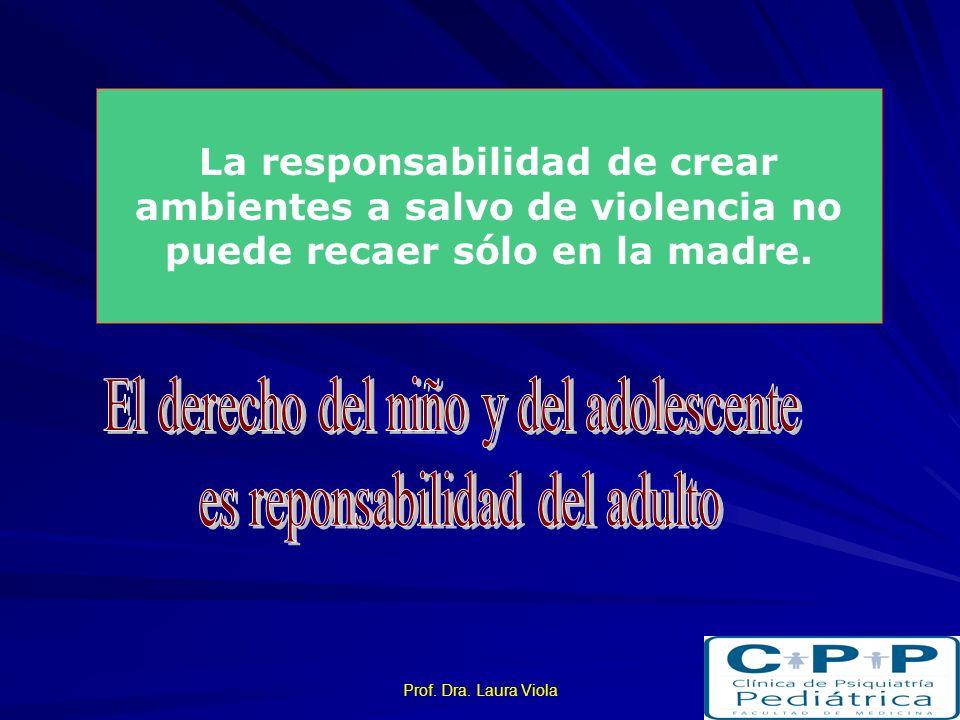 Prof. Dra. Laura Viola Liss, 1993 La probabilidad de obtener la custodia parece ser la misma para ambos padres No es siempre considerado en la evaluac