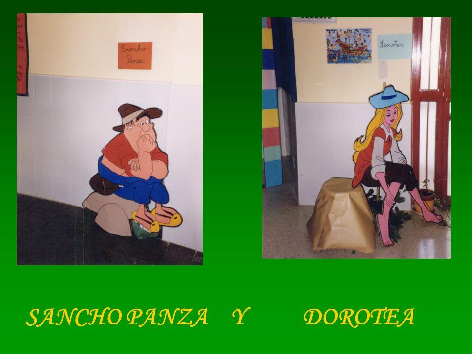 SANCHO PANZA Y DOROTEA