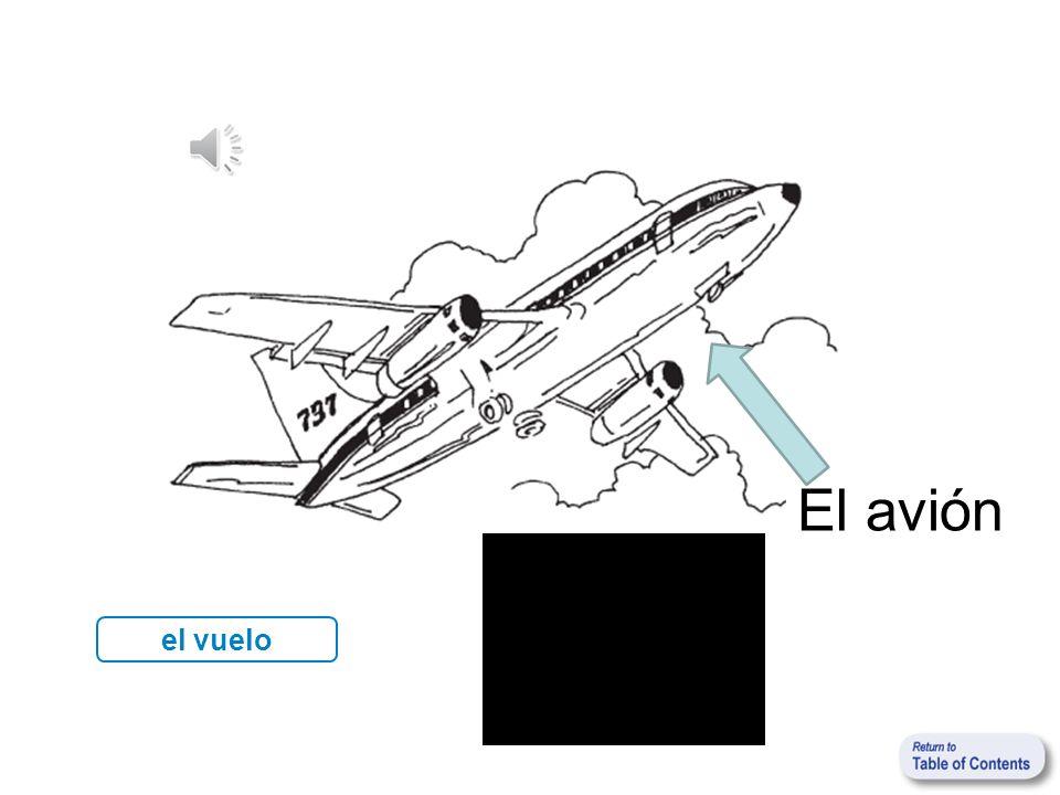 el vuelo El avión