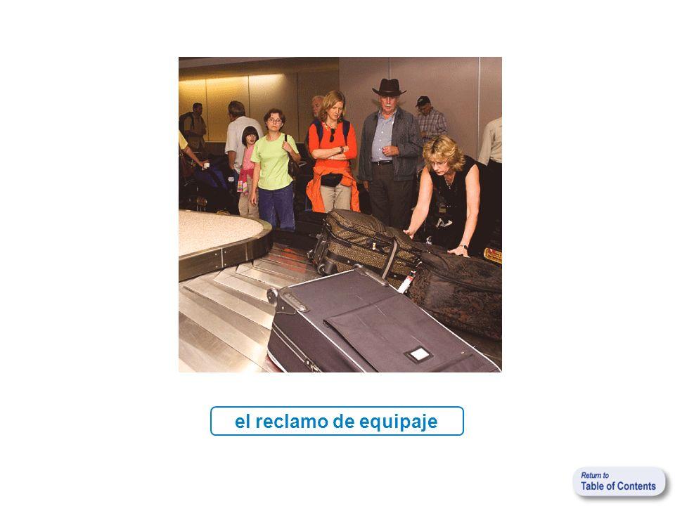 el reclamo de equipaje