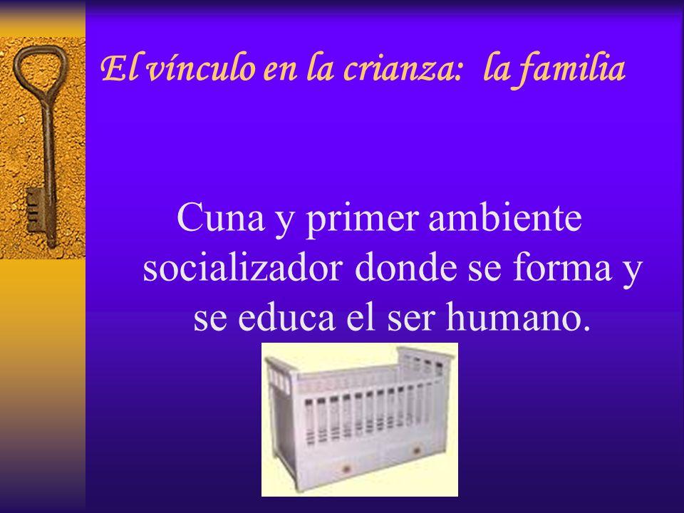 Cuna y primer ambiente socializador donde se forma y se educa el ser humano. El vínculo en la crianza: la familia