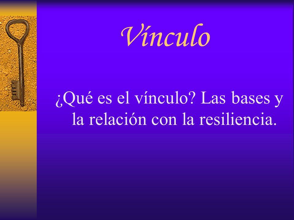 Vínculo ¿Qué es el vínculo? Las bases y la relación con la resiliencia.