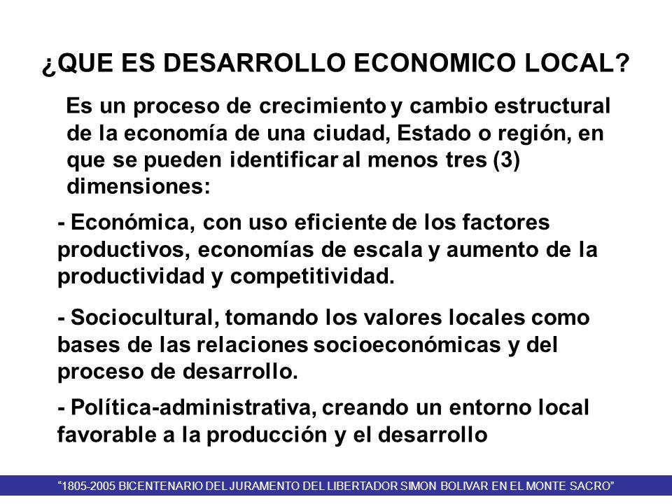 ¿QUE ES DESARROLLO ECONOMICO LOCAL? Es un proceso de crecimiento y cambio estructural de la economía de una ciudad, Estado o región, en que se pueden