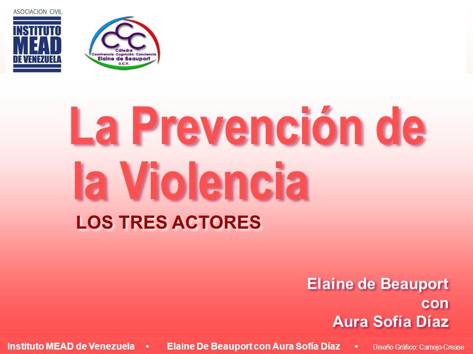 Instituto MEAD de Venezuela Elaine De Beauport con Aura Sofía Díaz Diseño Gráfico: Camejo-Crease La Prevención de la Violencia Elaine de Beauport con