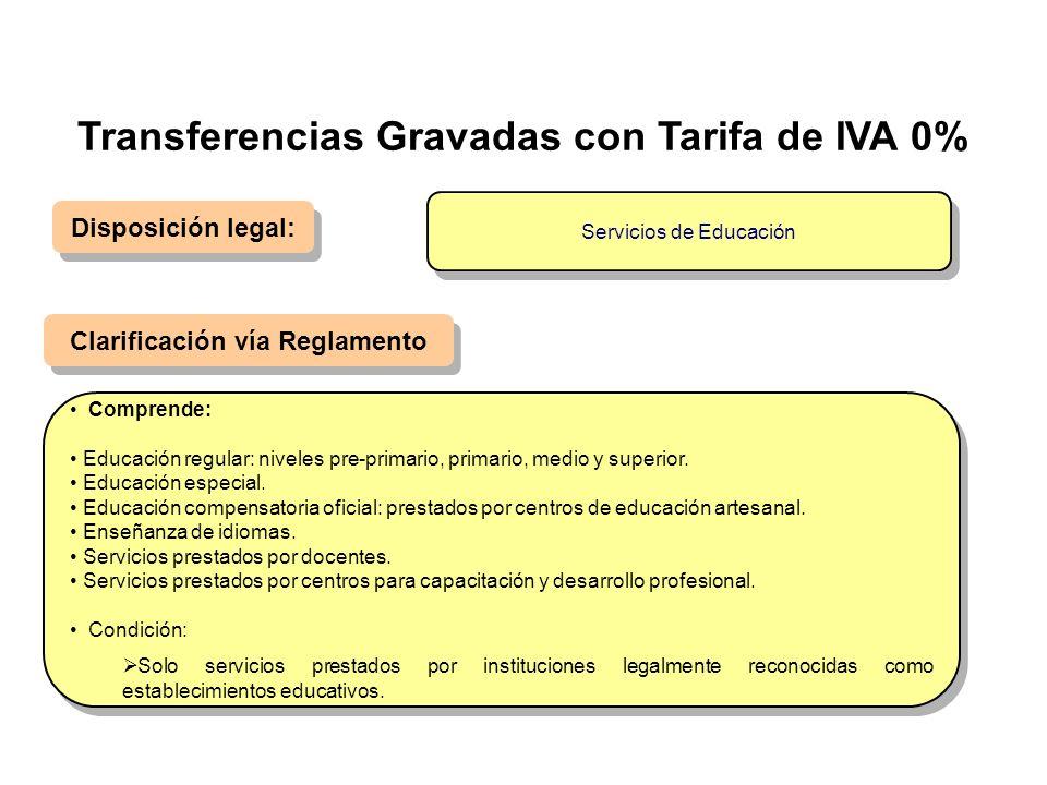 Disposición legal: Clarificación vía Reglamento Comprende: Educación regular: niveles pre-primario, primario, medio y superior. Educación especial. Ed