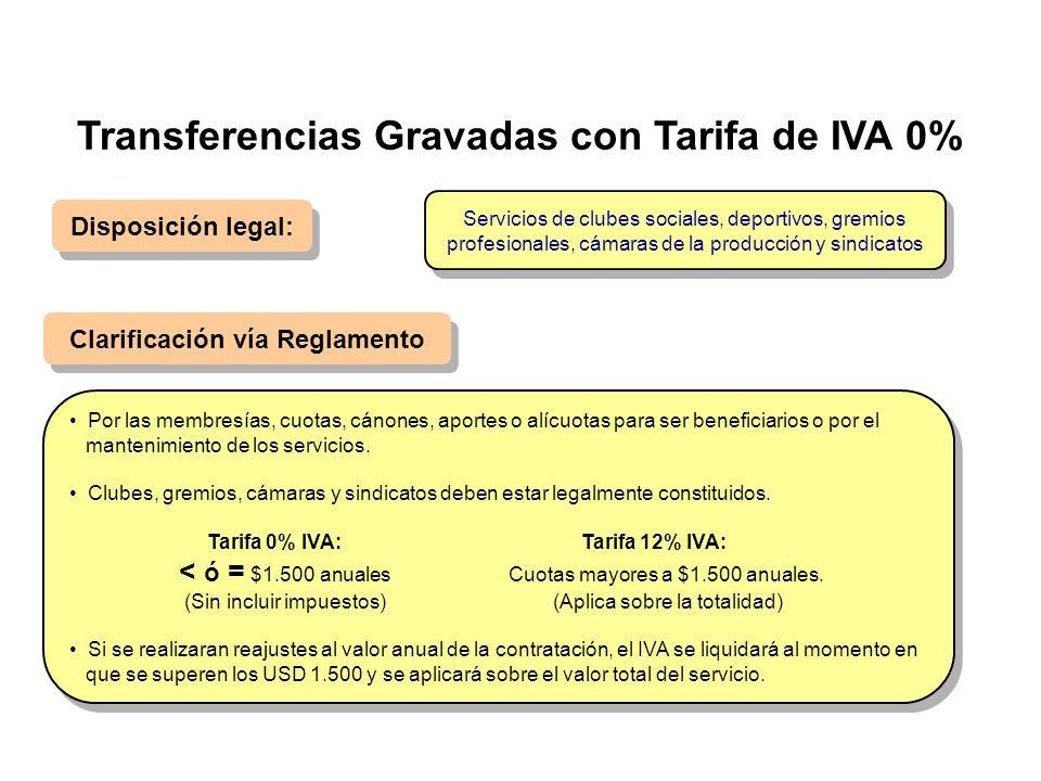 Disposición legal: Clarificación vía Reglamento Por las membresías, cuotas, cánones, aportes o alícuotas para ser beneficiarios o por el mantenimiento