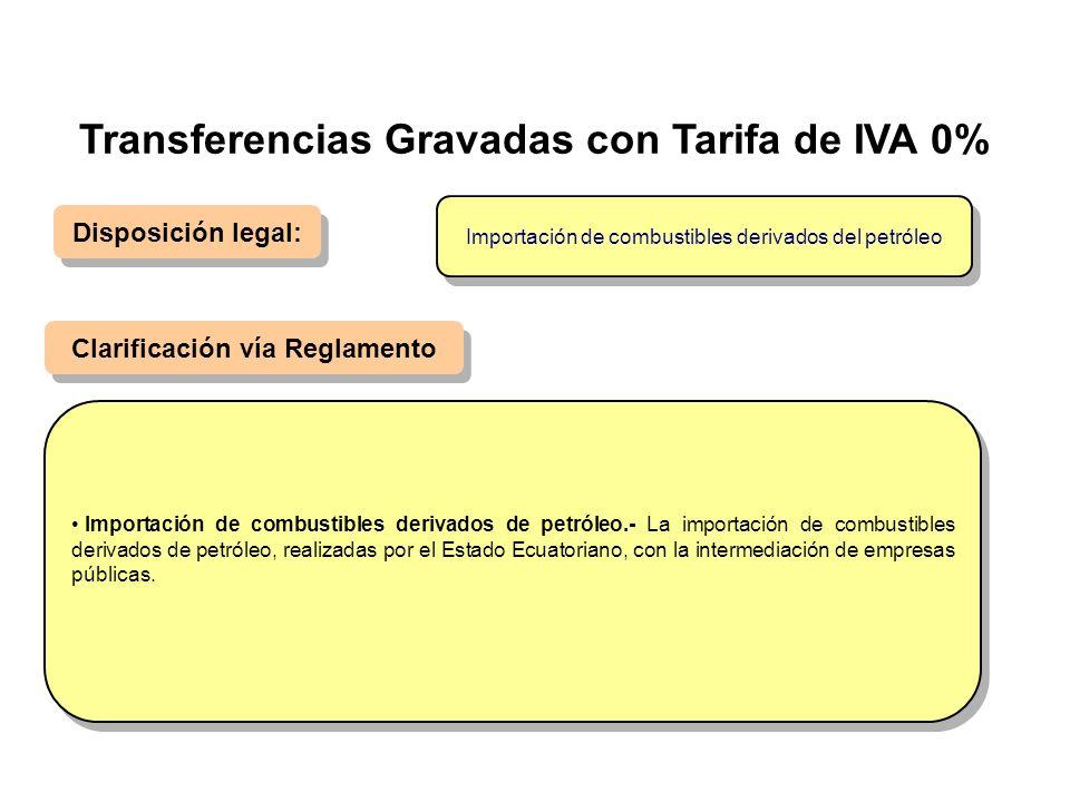 Disposición legal: Clarificación vía Reglamento Importación de combustibles derivados de petróleo.- La importación de combustibles derivados de petról