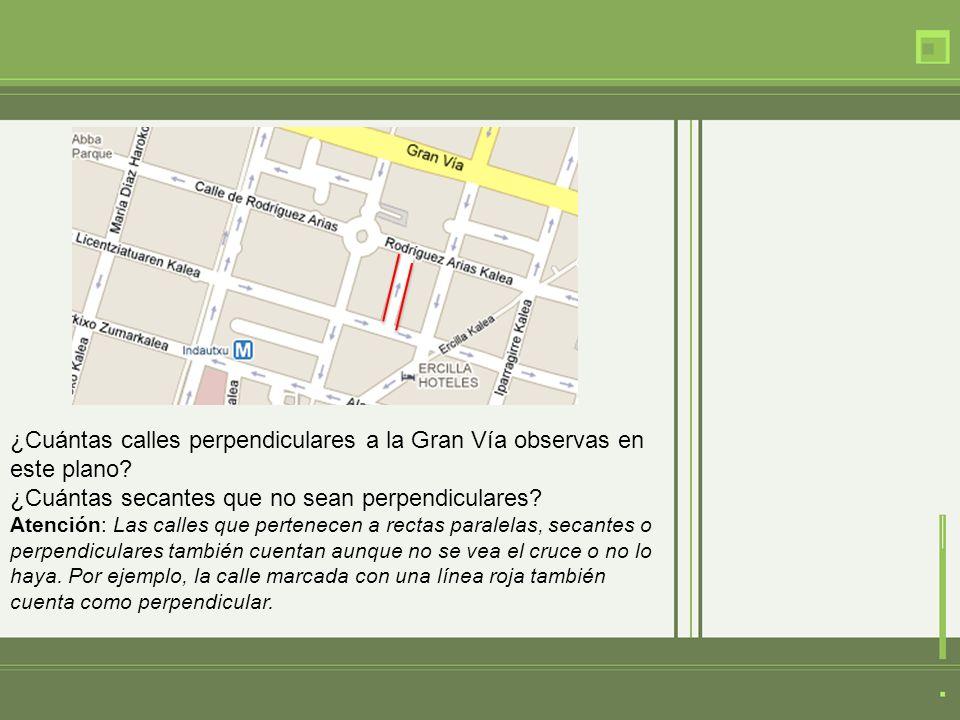 Adivinanzas ¿Cuántas calles perpendiculares tiene la Calle de Segovia en este plano.