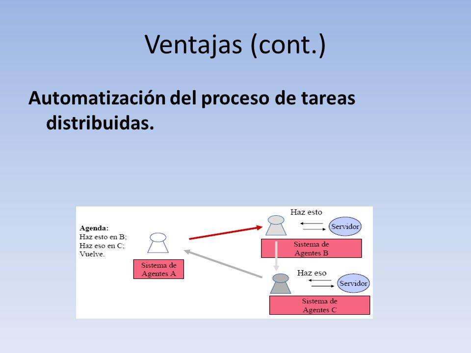 Ventajas (cont.) Automatización del proceso de tareas distribuidas.