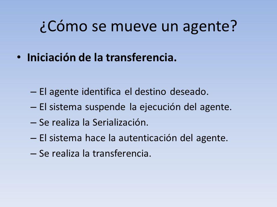¿Cómo se mueve un agente. Iniciación de la transferencia.