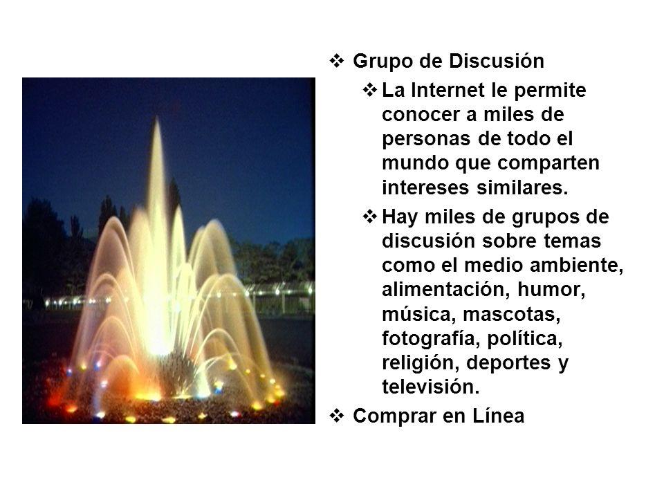 Grupo de Discusión La Internet le permite conocer a miles de personas de todo el mundo que comparten intereses similares. Hay miles de grupos de discu