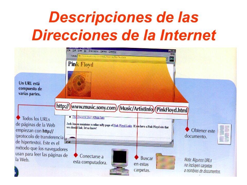 Descripciones de las Direcciones de la Internet